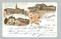 AK Polen Varsovie 1897-11-25 Litho L. Glaser - Pologne