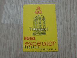 Hotel Excesior Excelsior Beograd Jugoslavija Kofferanh�nger luggage tag hotel label Hotel-Aufkleber