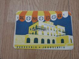 Hotel Komodor Dubrovnik Raguza Ragusa Beograd Jugoslavija Kofferanh�nger luggage tag hotel label Hotel-Aufkleber