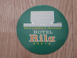 Balkantouriste Bulgarie Hotel Rila Sofia Kofferanh�nger luggage tag hotel label Hotel-Aufkleber