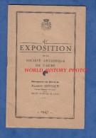 Livret Ancien - TROYES - 41e Exposition Société Artistique De L'Aube - Peinture Catalogue Des Oeuvres - Magasins Réunis - Champagne - Ardenne