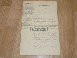 Hamburg 1899 1923 Geburtsurkunde Germany Deutschland - Nascita & Battesimo