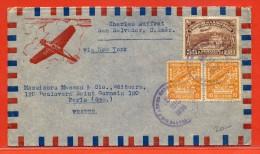 SALVADOR LETTRE DE 1938 DE SAN SALVADOR POUR PARIS FRANCE - Salvador