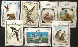 AFGHANISTAN Rapace, Perdrix, Pélican, Pie, Pic, Faisan, Huppe,  Birds, Vögel, Yvert  N° 1221/27 ** MNH - Arends & Roofvogels