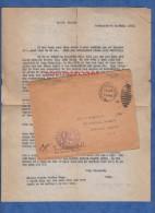 Courrier & Enveloppe ancienne - BREST - r�cit du Militaire am�ricain D.L. Beatty - 1919 - US Air Service - WW1