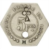 """Châlons-sur-Marne, Société De Consommation, 5 Francs """"M"""", Troué, Elie 25.5var - Monetari / Di Necessità"""