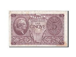 Italie, 5 Lire, Type 1944 - [ 1] …-1946 : Royaume