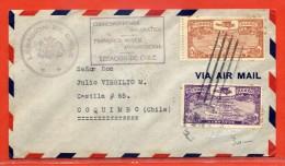 DOMINICAINE LETTRE DE 1940 DE ANTIGUA POUR COQUIMBO CHILI - Dominican Republic