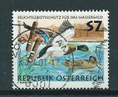 2001 Austria Environment,birds,oiseaux,vögel Used/gebruikt/oblitere - 1945-.... 2ème République