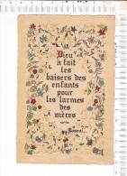 Lithographie  -  Dieu A Fait Les Baisers De  Enfants Pour Les Larmes Des Mères -  PASCAL  -  ROUSSEL - Rouen - Philosophie & Pensées
