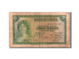 Espagne, 5 Pesetas Type Silver Certificate - [ 2] 1931-1936 : République