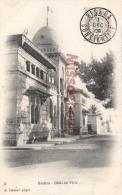 ALGERIE - BISKRA -  Hôtel De Ville - Dos Vierge Précurseur -  Tampon 1906 -  2 Photos  - TTBE - Biskra