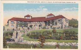 FRANKLIN, Pennsylvania; Residence Of Hon. Joseph C. Sibley, River Ridge Farm, 10-20s - United States
