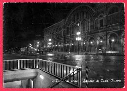 [DC5491] CARTOLINA - TORINO - STAZIONE DI PORTA NUOVA - Viaggiata 1961 - Old Postcard - Stazione Porta Nuova