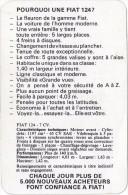 Pourquoi Une FIAT 124? Publicité Et Caractéristiques Techniques Vers 1965. - Autos