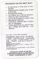 Pourquoi Une FIAT 600T Bus ? Publicité Et Caractéristiques Techniques Vers 1965. - Autos