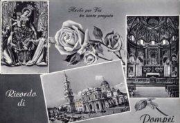 Pompei - Santino Cartolina RICORDO DI POMPEI, ANCHE PER VOI HO TANTO PREGATO 1956 - OTTIMO H94 - Religione & Esoterismo