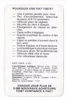 Pourquoi Une FIAT 1100R ? Publicité Et Caractéristiques Techniques Vers 1965. - Autos