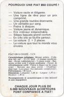 Pourquoi Une FIAT 850 Coupé ? Publicité Et Caractéristiques Techniques Vers 1965. - Autos
