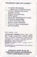 Pourquoi Une FIAT Lunga ? Publicité Et Caractéristiques Techniques Vers 1965. - Autos
