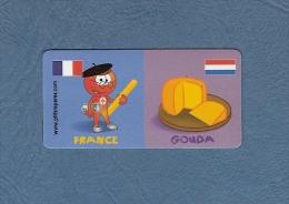 * MAGNET : Marque Repère ( LECLERC ) : Domino :    FRANCE..GOUDA..Scans Recto Et Verso - Magneti