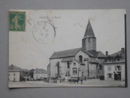 Ref4081 JU CPA Animée De Nexon  (Limousin) - L'église - Edit. Desprats 1920 MT Imprimeurs Limoges - Andere Gemeenten