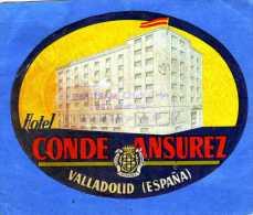 ETIQUETTE HOTEL CONDE ANSUREZ VALLADOLID ESPANA