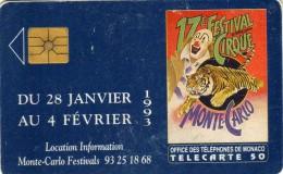 Cirque - 17 E Festival Inter National Du Cirque De Monte-Carlo - Pdt. Prince Rainier III -b Vice Pdt Princesse Stéphanie - Monaco