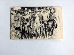 Carte Postale Ancienne : LAOS : Groupe De Guerriers KHAS-KASENG, RARE - Laos