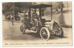 CPA PARIS - 75 - Bois De Boulmogne  - Une Chauffeuse De Fiacre Automobile - Taxi & Fiacre