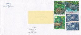 2014 United States U.S.  - Nice Cover Sent To Romania 5 Stamps American Fauna Birds Globe Stationery Entier - 2011-...