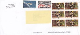 2015 United States U.S. - Nice Cover Sent To Romania 8 Stamps American Fighters Cosmos Globe Stationery Entier - Entiers Postaux