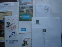 France Frankrijk Hotel reklame briefpapier, enveloppes en documentatie 5 hotels