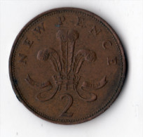 ANGLETERRE  -  2 Pence 1971 - 1971-… : Monnaies Décimales
