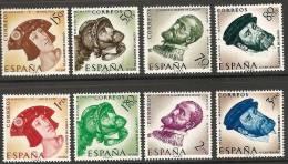1958-ED. 1224a31-SERIE COMPLETA-VI CENT.DE LA MUERTE DE CARLOS I DE ESPAÑA Y V DE ALEMANIA.RETRATOS-NUEVO - 1931-Today: 2nd Rep - ... Juan Carlos I