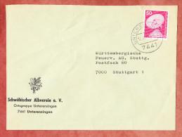 Brief, Erdefunkstelle, Unterensingen Nach Stuttgart 1976 (76450) - Storia Postale