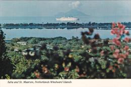 SABA AND ST. MAARTEN, Netherland Antilles, 1950-1970's; Netherlands Windward Islands, Cruise Ship - Saba