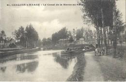 -  51 - Chalons Sur Marne - Le Canal De La Marne Au Rhin- - Châlons-sur-Marne