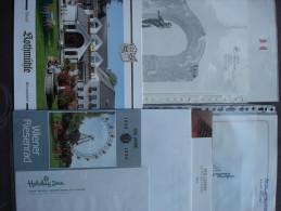Osterreich Oostenrijk Autriche Hotel reklame, Briefpapier, envellopes en documentatie 7 hotels