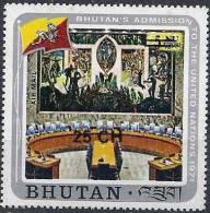 1978 BHOUTAN PA 144** O.N.U, Surchargé - Bhoutan