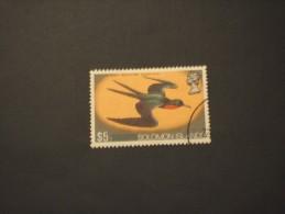 SOLOMON ISLANDS - 1973 UCCELLO 5 D. - TIMBRATO/USATO - Isole Salomone (1978-...)