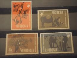 RHODESIA DEL SUD - 1967 NATURA 4 Valori -NUOVI(++) - Southern Rhodesia (...-1964)