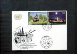 UNO / UN Wien 2011 Briefmarken Messe Berlin Postkarte - Centre International De Vienne