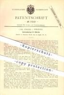 Original Patent - Carl Schlier In Würzburg , 1881 , Schreibunterlage Für Zitternde , Schreibwaren !!! - Schreibgerät
