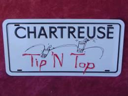 """Plaque Métal """"CHARTREUSE"""". - Plaques En Tôle (après 1960)"""