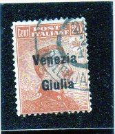 1918 Italia - Occupazione Venezia Giulia - Occupation 1ère Guerre Mondiale