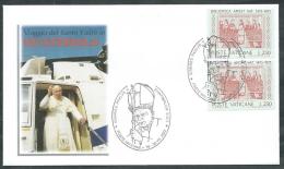 2002 VATICANO VIAGGI DEL PAPA GUATEMALA - SV11-4 - FDC