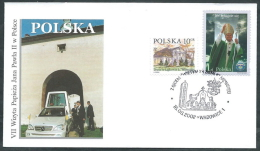 2002 VATICANO VIAGGI DEL PAPA POLONIA WADOWICE - SV11 - FDC