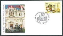2002 VATICANO VIAGGI DEL PAPA POLONIA KRAKOW - SV11-6 - FDC