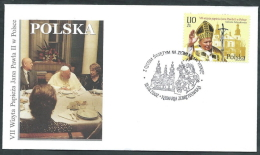 2002 VATICANO VIAGGI DEL PAPA POLONIA KALWARIA ZEBRZYDOESKA - SV11 - FDC
